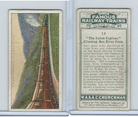 C82-48 Churchman, Famous Railway Trains, 1929, #18 Union Express