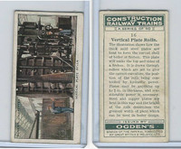 O2-140 Ogdens, Construction Trains, 1930, #16 Vertical Plate Rolls