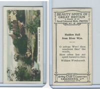 C48-22 Cavanders, Beauty Great Britain, 1927, #16 Haddon Hall from River Wye