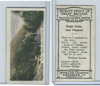 C48-22 Cavanders, Beauty Great Britain, 1927, #24 Fingle Bridge near Chagford