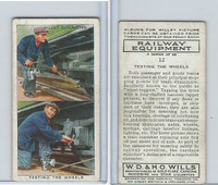 W62-170 Wills, Railway Equipment, 1938, #12 Testing the Wheels