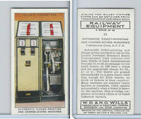 W62-170 Wills, Railway Equipment, 1938, #14 Automatic Ticket-Printing
