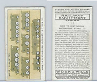W62-170 Wills, Railway Equipment, 1938, #22 How to Distinguish Locomotive