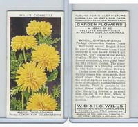 W62-140 Wills, Garden Flowers, 1939, #14 Annual Chrysanthemum