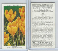 W62-140 Wills, Garden Flowers, 1939, #15 Crocus