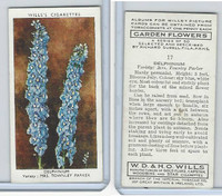 W62-140 Wills, Garden Flowers, 1939, #17 Delphinium