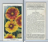 W62-140 Wills, Garden Flowers, 1939, #21 Gaillardia