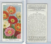 W62-140 Wills, Garden Flowers, 1939, #24 Iceland Poppy