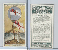 W62-135 Wills, Flags of the Empire, A, 1926, #3 White Ensign