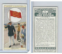 W62-135 Wills, Flags of the Empire, A, 1926, #6 Standard of England