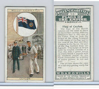 W62-135 Wills, Flags of the Empire, A, 1926, #15 Ceylon