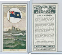 W62-135b Wills, Flags of the Empire, 2nd, 1929, #4 Barbados