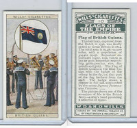 W62-135b Wills, Flags of the Empire, 2nd, 1929, #10 British Guiana