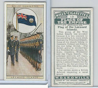 W62-135b Wills, Flags of the Empire, 2nd, 1929, #13 Leeward Islands