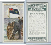 W62-135b Wills, Flags of the Empire, 2nd, 1929, #16 St. Helena