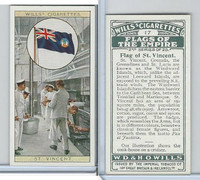 W62-135b Wills, Flags of the Empire, 2nd, 1929, #17 St. Vincent
