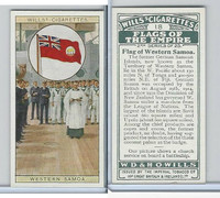 W62-135b Wills, Flags of the Empire, 2nd, 1929, #18 Western Samoa