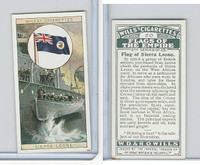 W62-135b Wills, Flags of the Empire, 2nd, 1929, #20 Sierra Leone