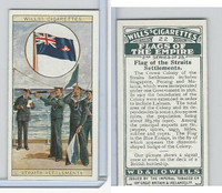W62-135b Wills, Flags of the Empire, 2nd, 1929, #22 Straits Settlements