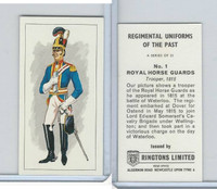 R0-0 Ringtons, Regimental Uniforms, 1960, #1 Royal Horse Guards