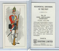 R0-0 Ringtons, Regimental Uniforms, 1960, #10 Hon. Artillery Company