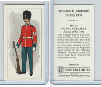 R0-0 Ringtons, Regimental Uniforms, 1960, #13 Royal Fusiliers