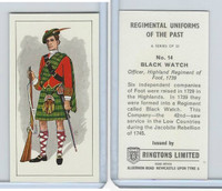 R0-0 Ringtons, Regimental Uniforms, 1960, #14 Black Watch