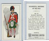 R0-0 Ringtons, Regimental Uniforms, 1960, #15 Black Watch