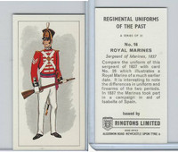 R0-0 Ringtons, Regimental Uniforms, 1960, #16 Royal Marines