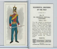 R0-0 Ringtons, Regimental Uniforms, 1960, #17 9th (Queen's Royal) Lancers