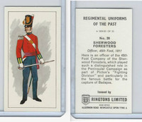 R0-0 Ringtons, Regimental Uniforms, 1960, #20 Sherwood Foresters