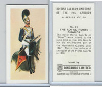 R0-0 Ringtons, British Cavalry, 1971, #11 Royal Horse Guards
