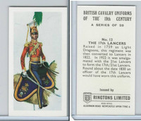 R0-0 Ringtons, British Cavalry, 1971, #13 17th Lancers