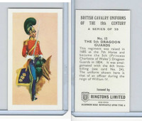 R0-0 Ringtons, British Cavalry, 1971, #15 5th Dragoon Guards