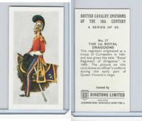 R0-0 Ringtons, British Cavalry, 1971, #17 1st Royal Dragoons