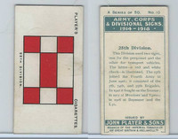 P72-63a Player, Army, C, D Signs, 1924, #10 25th Division