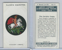 P72-63a Player, Army, C, D Signs, 1924, #12 The Cavalry Corps