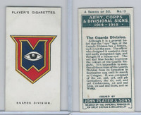 P72-63a Player, Army, C, D Signs, 1924, #13 The Guards Division