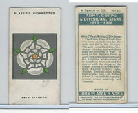 P72-63a Player, Army, C, D Signs, 1924, #20 49th (West Riding) Division