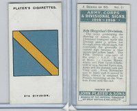 P72-63a Player, Army, C, D Signs, 1924, #21 5th (Regular) Division