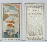W62-142 Wills, Garden Hints, 1938, #10 Making a Plant Propagating Frame