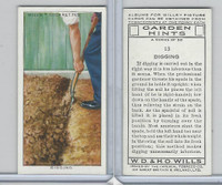 W62-142 Wills, Garden Hints, 1938, #13 Digging