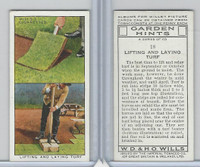 W62-142 Wills, Garden Hints, 1938, #18 Lifting and Laying Turf