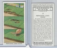 W62-142 Wills, Garden Hints, 1938, #19 Repairing Lawn Edges