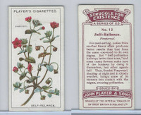 P72-136 Player, Struggle For Existence, 1923, #12 Pimpernel