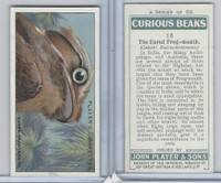 P72-85 Player, Curious Beaks, 1929, #16 Eared Frog-mouth, Bird
