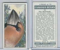 P72-85 Player, Curious Beaks, 1929, #20 Hawfinch, Bird