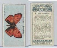 W62-119 Wills, British Butterflies, 1927, #18 Large Copper