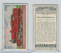W62-169 Wills, Railway Engines, 1924, #20 Metropolitan Railway