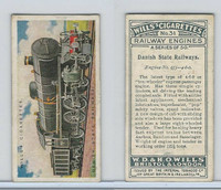 W62-169 Wills, Railway Engines, 1924, #31 Danish State Railways